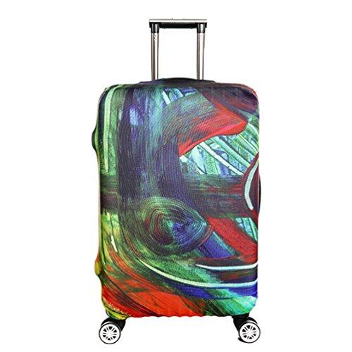 YiJee Covers Koffer Mit Trendigen Drucken Elastic Abdeckung Für Beutel Wie Das Bild 2 XL - Koffer Abdeckung Dehnbare