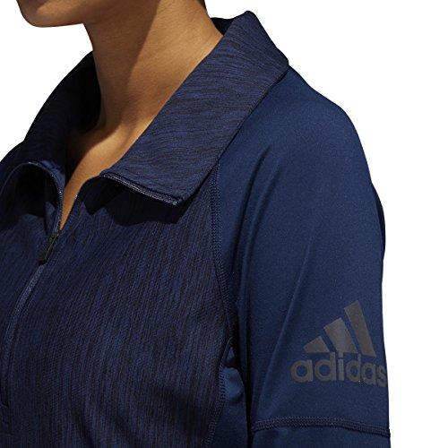 Adidas–Pantaloncini da allenamento Performer Baseline 1/4zip giacca Collegiate Navy Heathered