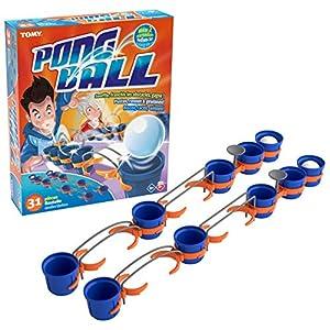 TOMY T73019 - Juego de 10 Vasos, 4 Pelotas de Ping Pong, 10 pequeñas sujeciones, 2 Tees, Rectas, 2 Barras paralelas Redondeadas, 1 Manual de Instrucciones