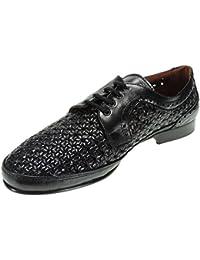 Jam 803 Zapato Trenzado Calado Piel Piso Cuero para Hombre