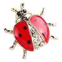 TOOGOO Fashion animal rhinestone ladybug brooch for Unisex jewelry