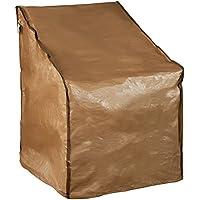 Abba Patio Funda Protectora Impermeable para Sillón Individual Cubierta Muebles de Jardín Medida 80 x 70 x 102 cm, Color Marrón