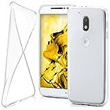 moex Lenovo Moto G4 Play | Hülle Silikon Transparent Klar Clear Back-Cover TPU Schutzhülle Dünn Handyhülle für Motorola Moto G4 Play Case Ultra-Slim Silikonhülle Rückseite