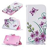 Nancen Nokia Microsoft Lumia 550 Premium Leder Flip Handyhülle/Wallet Case, Blumen Landschaften Tiere und Bunt Printed Muster - Bookstyle Cover Schutzhülle mit Standfunktion