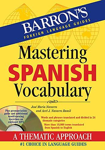 Vocabulary (various): Mastering Spanish vocabulary book & CD por Jose Maria Navarro