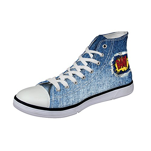 Coloranimal Collo Alto Donna denim pattern-1