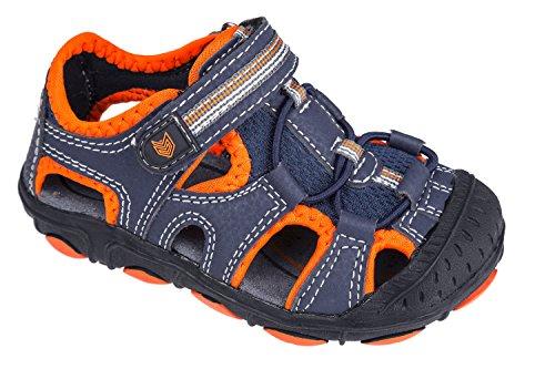 Trekkingsandalen für Kinder, mit Klettverschluss, dunkelblau/orange, Gr. 31-36 Dunkelblau/Orange