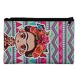 Etui Manga Stil Frida Kahlo geometrisch, Geldbörse, Brieftasche, Geldbeutel, Portemonnaie