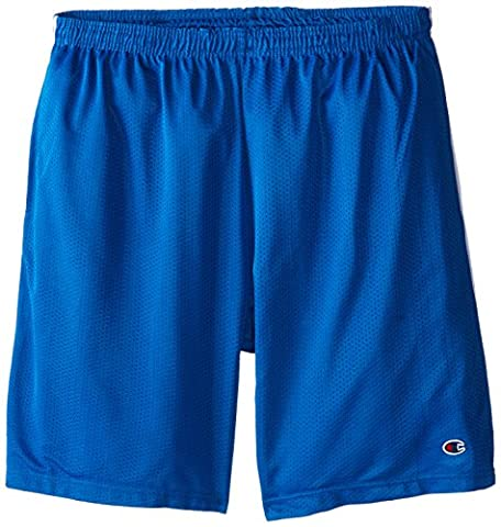 Champion Men's Big-Tall Mesh Shorts with Piping, Royal, 1X