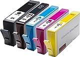 Metro Market 5 Pièces pour HP 364 XL Cartouche d'encre 5 Couleur 1Set+1Noir Grande capacité avec HP Photosmart 7510 7520 B8550 5510 5512 5515 5520 5524 6510 6520 B110a B110c B109a C309a B209a