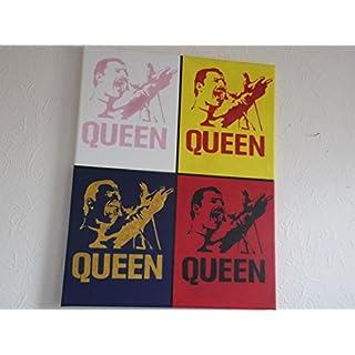 Freddie Mercury, Queen, handbemalt 20x 16Ins Leinwand, fertig zum Aufhängen