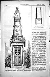 Imprimez l'Architecte 1857 722L115 du Régime M Bourgerel de Tomb General De Brea Nantes