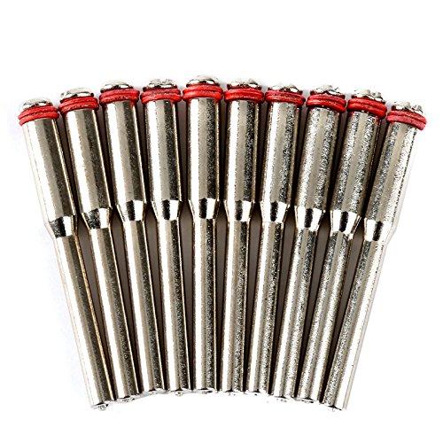 10 piezas 3.17mm Tornillo de acero Tornillo de mandril Cortado Soporte de rueda para herramienta de eje Dremel
