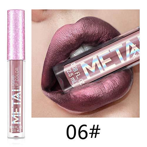 Brillant à lèvres hydratant hydrofuge durable rouge à lèvres liquide matte scintillant