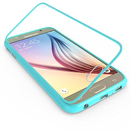 youcase - Samsung Galaxy S5 Mini G800 Touch Case TPU-Schutz-Hülle mit Schutzfolie Displayfolie Outdoor Smart Cover Tasche Etui Silikon grün