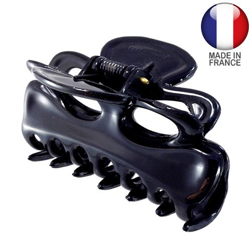 245 – 001 – Pince pour cheveux français nœud cm 9 Noir – Pinces pour Cheveux