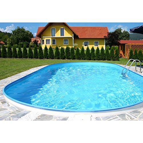 Chemoform Pool Schwimmbecken OVAL Stahlwand 4 Größen Höhe 150 cm Swimmingpool