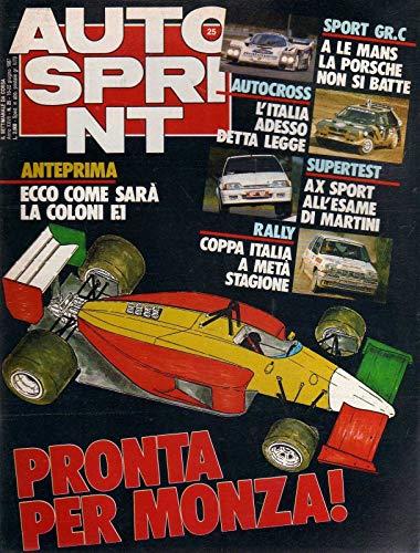 Autosprint 25 16-22 giugno 1987 Ayrton Senna, Guy Goutard, Bmw M3 a Zeltweg