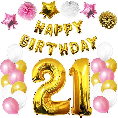 Fournitures Décorations par belle vous 26 PC 16th Happy Birthday Party ballons