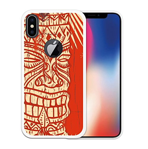 iPhone X Hülle, WoowCase Handyhülle Silikon für [ iPhone X ] Regenbogen Eule Handytasche Handy Cover Case Schutzhülle Flexible TPU - Transparent Housse Gel iPhone X Transparent D0210
