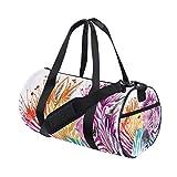 MALPLENA Regenbogen-Zebra-Trommel-Sporttasche für Damen, Reisetasche