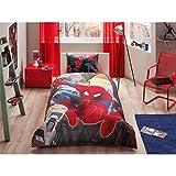 Bekata Spiderman Parure de lit pour garçon, Housse de Couette 100% Coton pour lit...