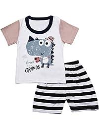 1c295ebf0 Lonshell Conjunto Ropa Bebé León Coche Avión Animales de de Dibujos  Animados Bebés Niña Niño Recién