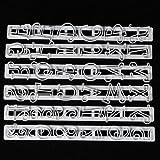 5Five Ausstechformen Zahlen und Buchstaben Paste Fondant Kuchen gerade Cutter Form