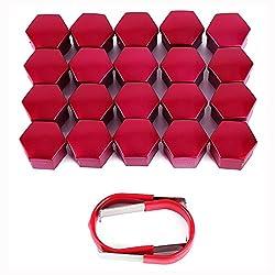 SurePromise One Stop Solution for Sourcing 20x Universal 17mm Radmuttern Radschrauben Kappen Set Radschraubenkappen Radkappen inkl. 2 Abzieher