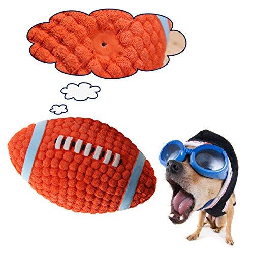 LAMAX Perfekte Hundespielzeug, Pet Ball Spielzeug Amercian Football Hundespielzeug Vocal Pet Spielzeug bissfester Zähne Molar Latex Spielzeug Ball Ideal für Unterricht, Praxis, Werfen Maschinen