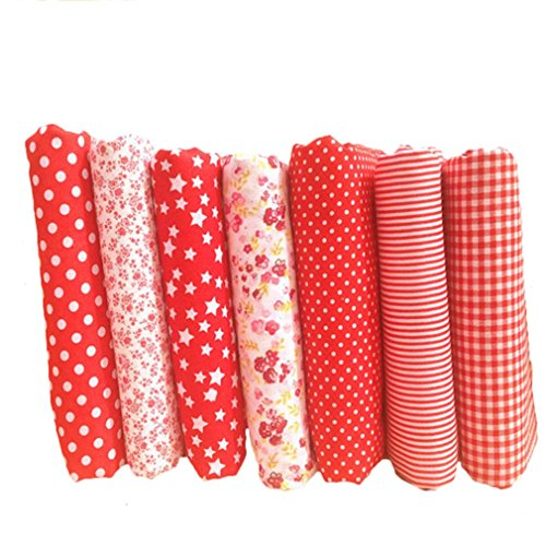 souarts-fabric-bundles-quilting-sewing-patchwork-cloths-diy-craft-floral-fabric-red-25x25cm-7pcs