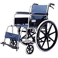 Silla De Ruedas Multifunción Ligero Acero Plegable Portátil Carretilla Freno De Mano Médico Equipo Discapacitado Paciente Mayor, Azul