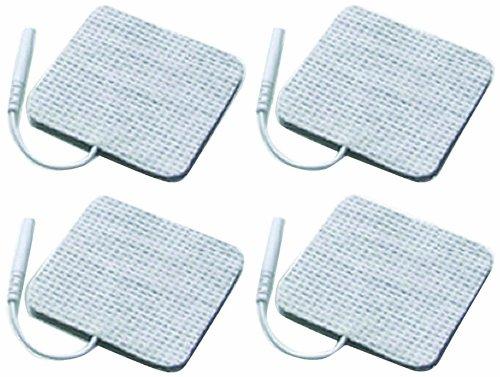 4 Stück Elektroden 50 x 50 mm für SaneoTENS, SaneoSPORT, SaneoVITAL und andere TENS EMS Reizstromgeräte