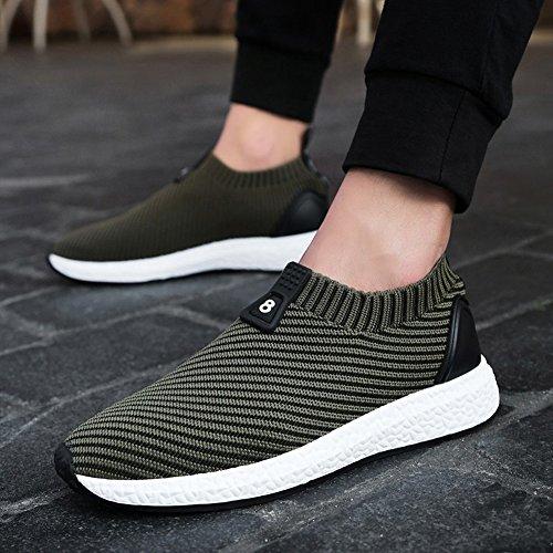 Yixiny Sport Chaussures Hommes Chaussures En Plein Air Sport Net Chaussures Jogging Loisirs Respirant Déodorant (couleur: Noir, Taille: Eu41 / Uk7.5-8 / Cn42) Kaki