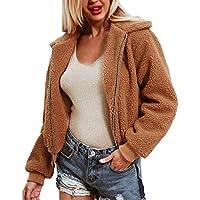 Hanomes Damen pullover, Damen Damen warme künstliche Wollmantel Reißverschluss Jacke Winter Parka Oberbekleidung preisvergleich bei billige-tabletten.eu