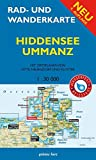 Rad- und Wanderkarte Hiddensee, Ummanz: Mit Ortsplänen von Vitte, Neuendorf, Kloster. Maßstab 1:30.000. Wasser- und reißfest -