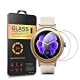 """LG Watch Style Glass Screen Protector, SUNDATOM 1.2"""" Tempered Glass Protective Film Screen Cover [Shock-Proof] [Anti-Scratch] [ Anti-Shatter] For LG Watch Style"""