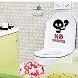 Inovey Bc-594 Nicht Rauchen Erinnerung Zeichen Abnehmbare Pvc Wc Sitz Aufkleber Badezimmerwand Dekoration