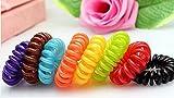 Hair rubber (plastic spiral), phone cord, elastic, hair accessories, 10pcs set