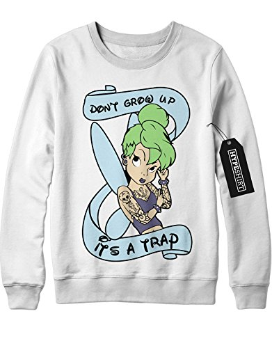 Sweatshirt Tattoed Disney Fairy Tale Characters