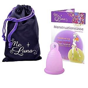 Me Luna Menstruationstasse Soft, Ring, Rosa, Größe S