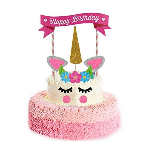 Girls Five Birthday Cake Topper