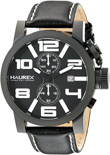 Haurex Italy Men's 3N506UWN TURBINA II Analog Display Quartz Black Watch