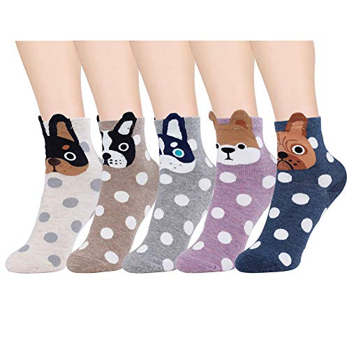 ocken Hund Motive Cartoon Tier Socken Baumwolle Socken 5 Paar ()