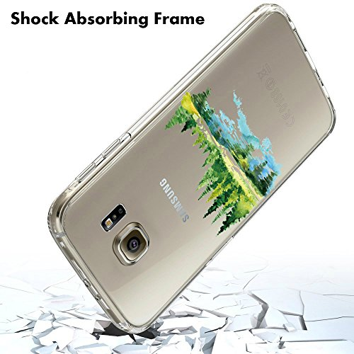 Coque Samung Galaxy S7 Edge, Qissy® Ultra-Thin Coque pour Samung Galaxy S6 Edge Plus Silicone Étui Housse Transparent Souple TPU Protecteur Exact Fit Soft Etui Coque A