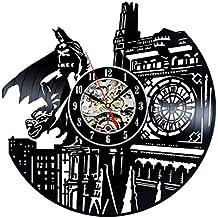 tema de Batman reloj hecho a mano del disco de vinilo de la vendimia