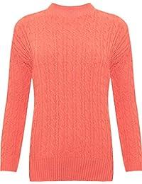 Frauen Plain Schildkröte Polo Hals Lange Ärmel Basic Dehnbar Jumper T-Shirt Top