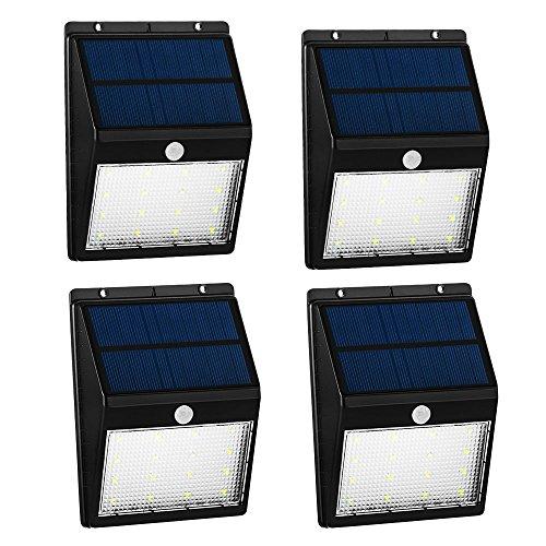 Lampade da parete energia solari wireless grde 16 led 250lm luci solare sensore movimento - Lampade da esterno solari ...