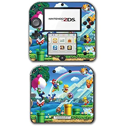 New Super Mario Bros 2 3D Land World Luigi Goomba Video Game Vinyl Decal Skin Sticker Cover for Nintendo 2DS System Console by Vinyl Skin