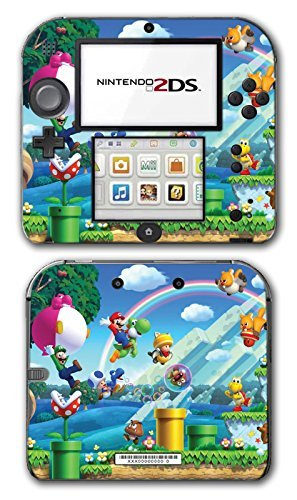 New Super Mario Bros 2 3D Land World Luigi Goomba Video Game Vinyl Decal Skin Sticker Cover for Nintendo 2DS System Console by Vinyl Skin Designs